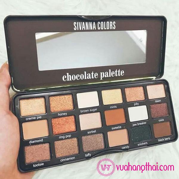 Phấn Mắt Sivanna Colors Chocolate palette