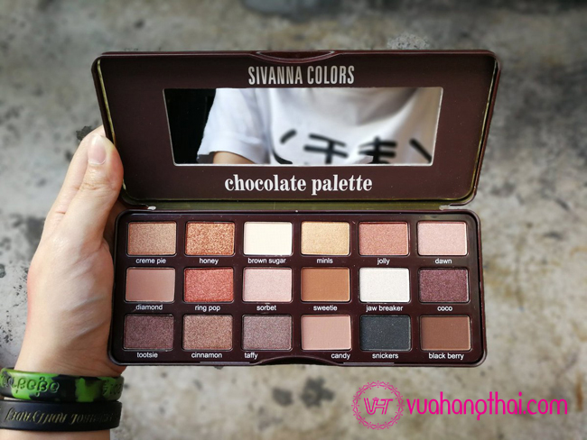 bảng phấn mắt cao cấp sivanna colors Chocolate Palette